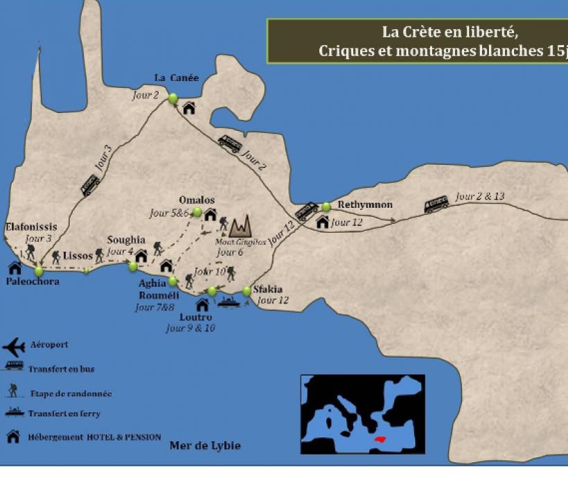 Carte Canee Crete.Trekking En Liberte En Crete Sur Les Hauteurs